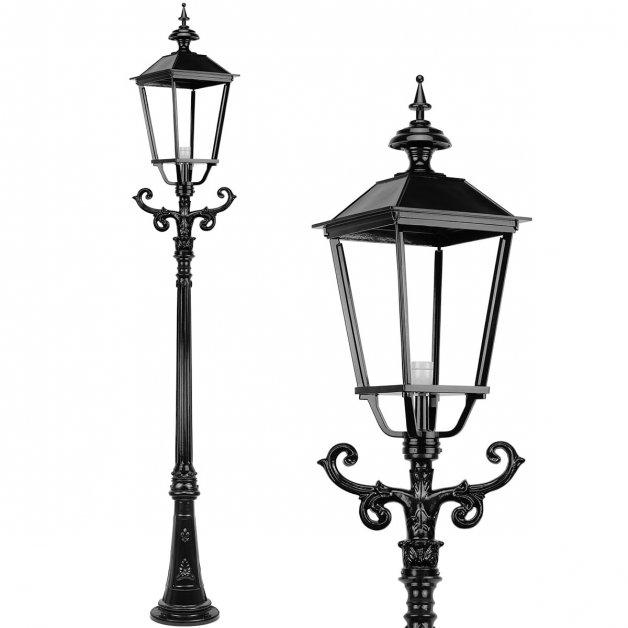 Außenlampen Straßenlichter Lichtpfahl hoch rustikal Appelscha - 285 cm