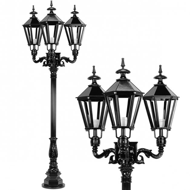 Außenleuchten Laternenpfähle Lichtmast garten Cornjum 3-Leuchte - 205 cm