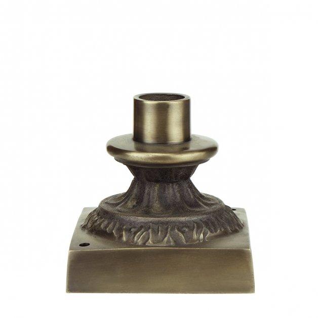 Außenbeleuchtung Klassisch Ländlich Einzelne Lampenfuß M23BR bronze - 10 cm