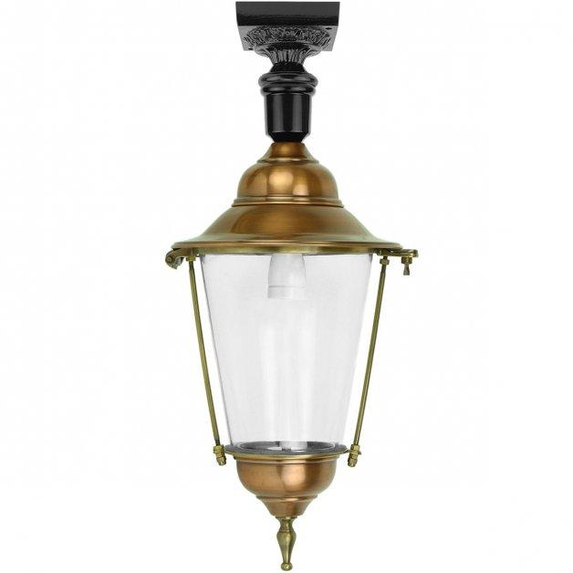 Buitenlampen Klassiek Landelijk Plafondlantaarn Balkbrug koper - 69 cm