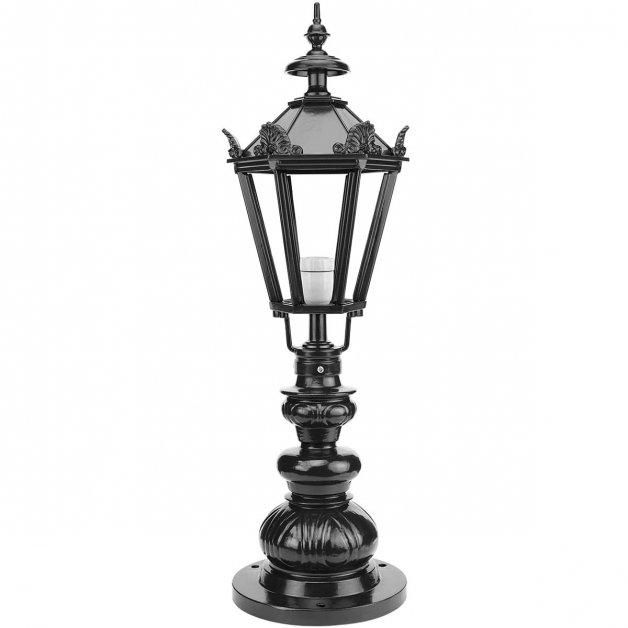 Außenbeleuchtung Klassisch Ländlich Gatelampe De Hoef mit kronen - 83 cm