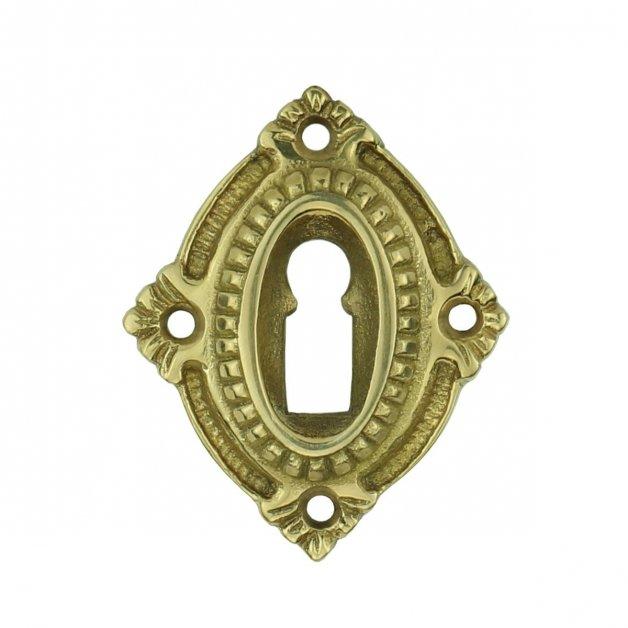 Hardware Door Rosettes Keyhole rosette with lilies Dömitz - 66 mm
