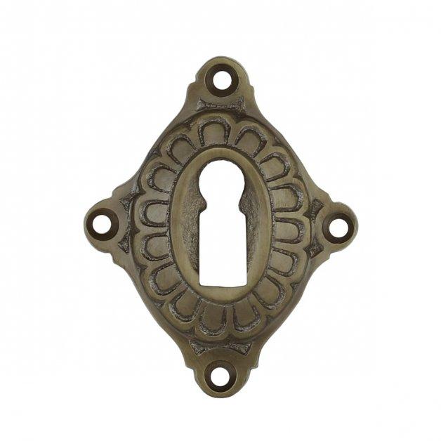 Hardware Door Rosettes Keyhole rosette old brass Hamelen - 62 mm