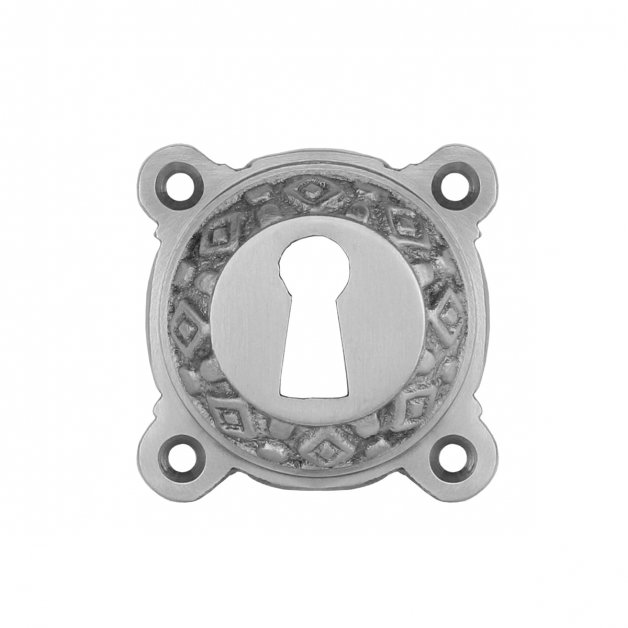 Hardware Door Rosettes Key plate old design nickel Selbitz - Ø 51 mm