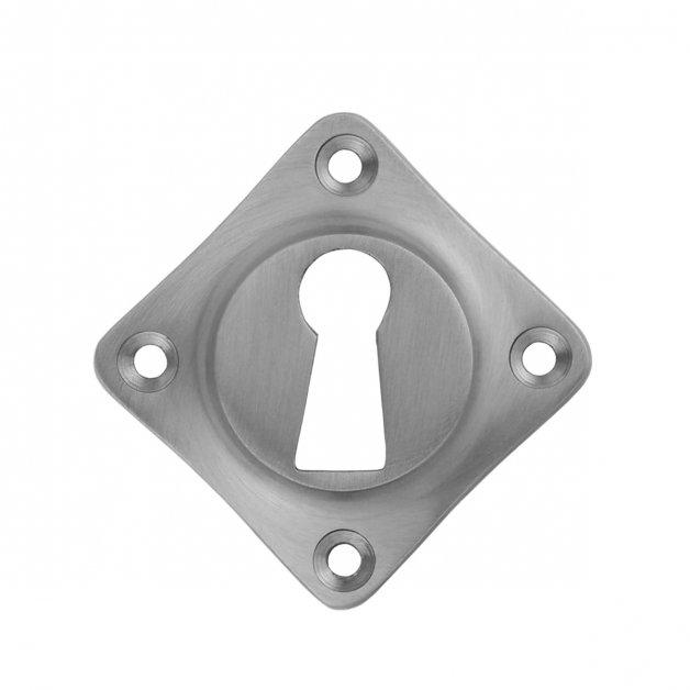 Hardware Door Rosettes Key plate matted nickel Aken - 51 mm