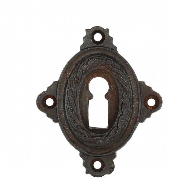 Hardware Door Rosettes Key plate rustic cast iron Einbeck - 65 mm