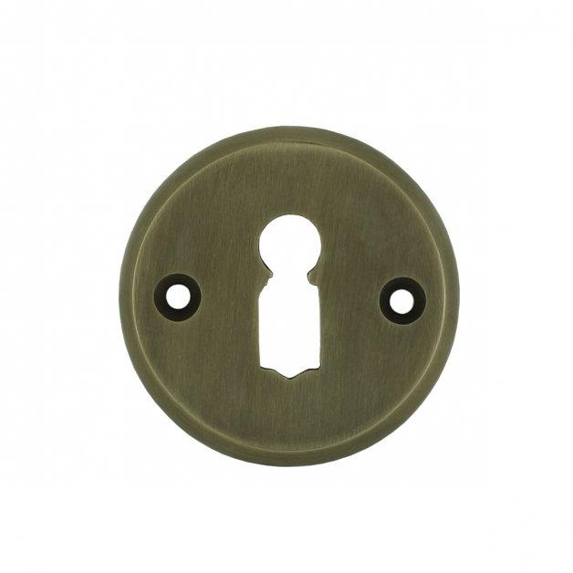 Hardware Door Rosettes Key rosette round old bronze Görlitz - Ø 49 mm