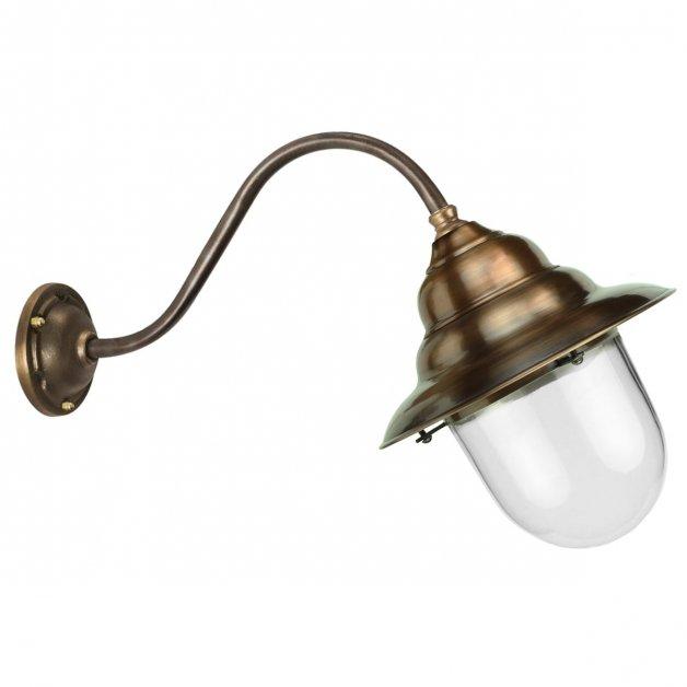 Außenleuchten Klassisch Ländlich Stallampe schräg glocke kupfer Abbega - 35 cm