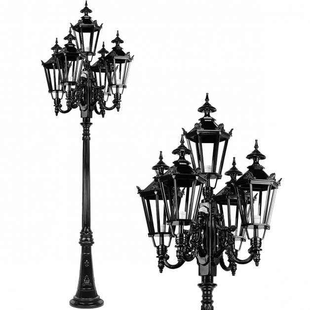 Außenleuchten Laternenpfähle Straßenlampe antikes Alendorp 5-Arme - 290 cm