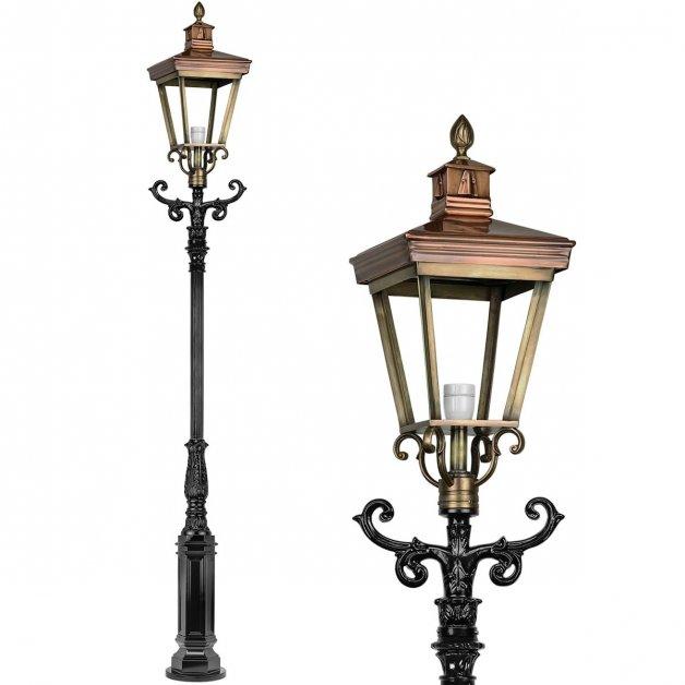 Buitenlampen Lantaarnpalen Straatlamp antiek Hoogvliet brons - 320 cm