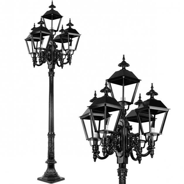 Buitenlampen Lantaarnpalen Straatlamp rustiek Colonjes 5-Lampen - 290 cm