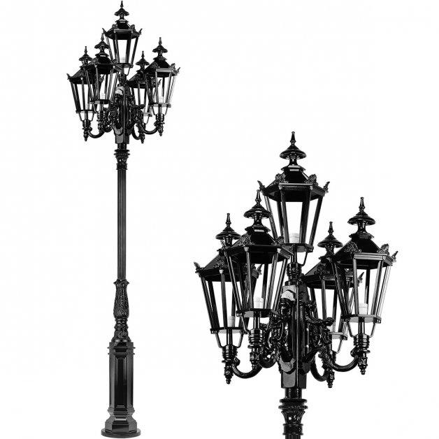 Außenleuchten Klassisch Ländlich Straßenlaterne Ellerhuizen 5-Lampe - 330 cm