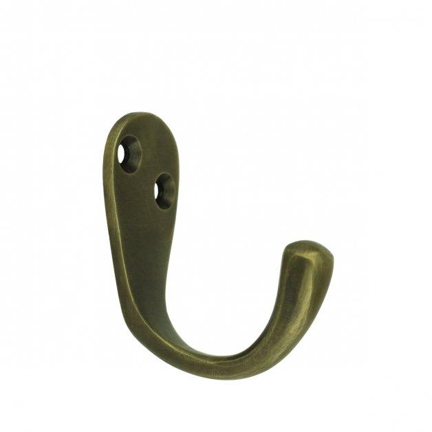 Hardware Wardrobe Hooks Dishcloth hook old brass Heideck - 49 mm
