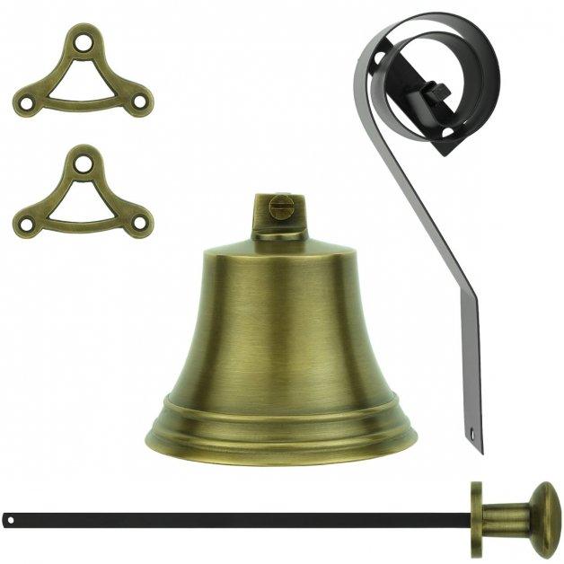 Türbeschläge Türklingeln Glocke ziehen 30er jahre stil messing - Ø 80 mm