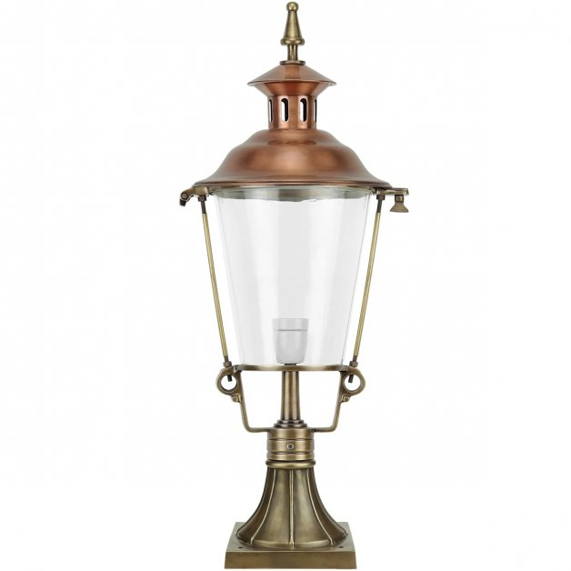 Buitenverlichting Klassiek Landelijk Tuinlamp Bernheze Brons - 88 cm