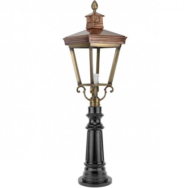 Buitenverlichting Klassiek Landelijk Tuinlamp staande Makkum brons - 105 cm