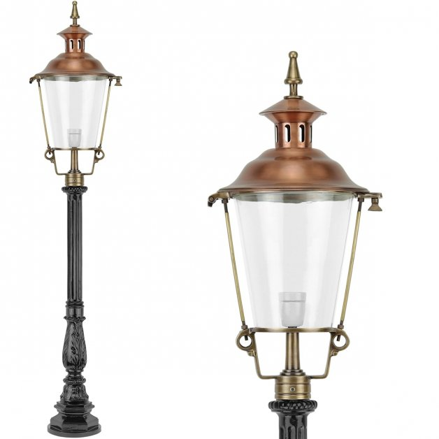 Outdoor Lighting Classic Rural Garden lantern Everdingen Bronze - 150 cm