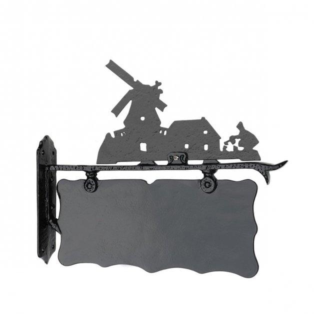 Geveldecoratie Klassiek Landelijk Voordeurbord rustiek Windmolen - 39 cm