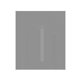 Fassadendekoration Zahlen & Buchstaben Hausnummer 1 eins schwarz eisen - 102 mm