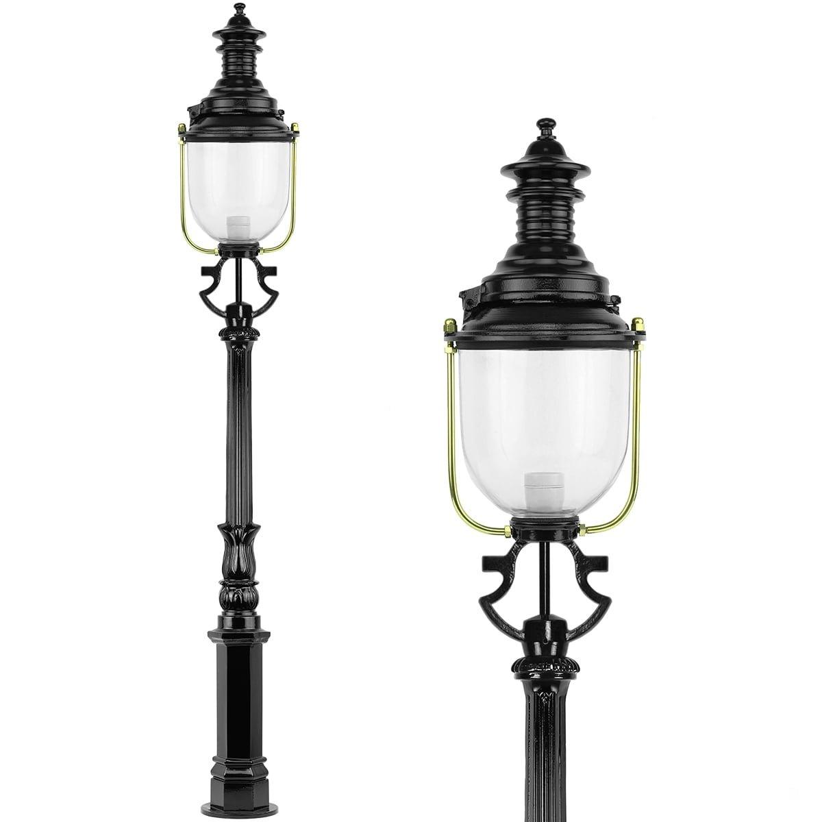 Außenbeleuchtung Klassisch Ländlich Außenlaterne pfahl Biezenmortel - 215 cm
