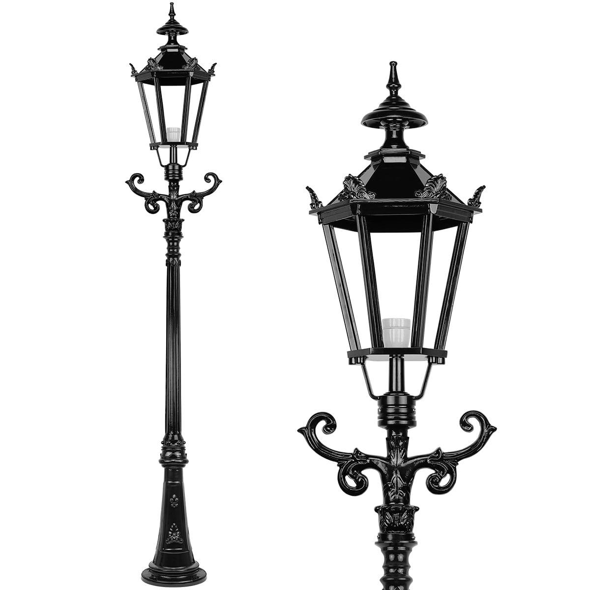 Outdoor Lighting Classic Rural Crown lantern standing Sauwerd - 275 cm