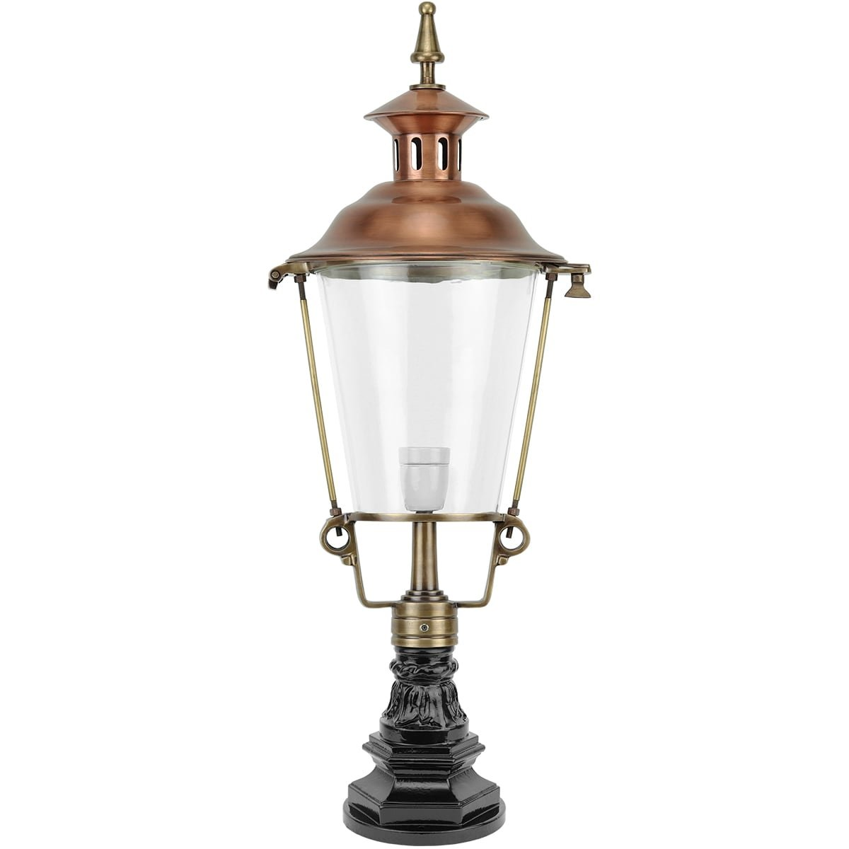 Buitenverlichting Klassiek Landelijk Poer lamp muiderberg brons - 81 cm