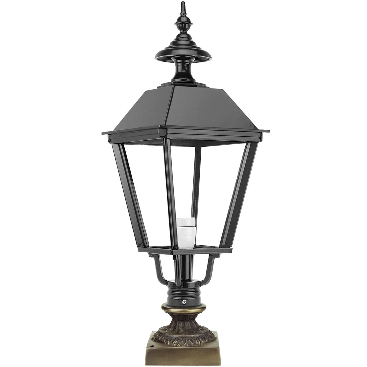 Buitenverlichting Klassiek Nostalgisch Tuinlamp lage Driehuizen brons - 71 cm