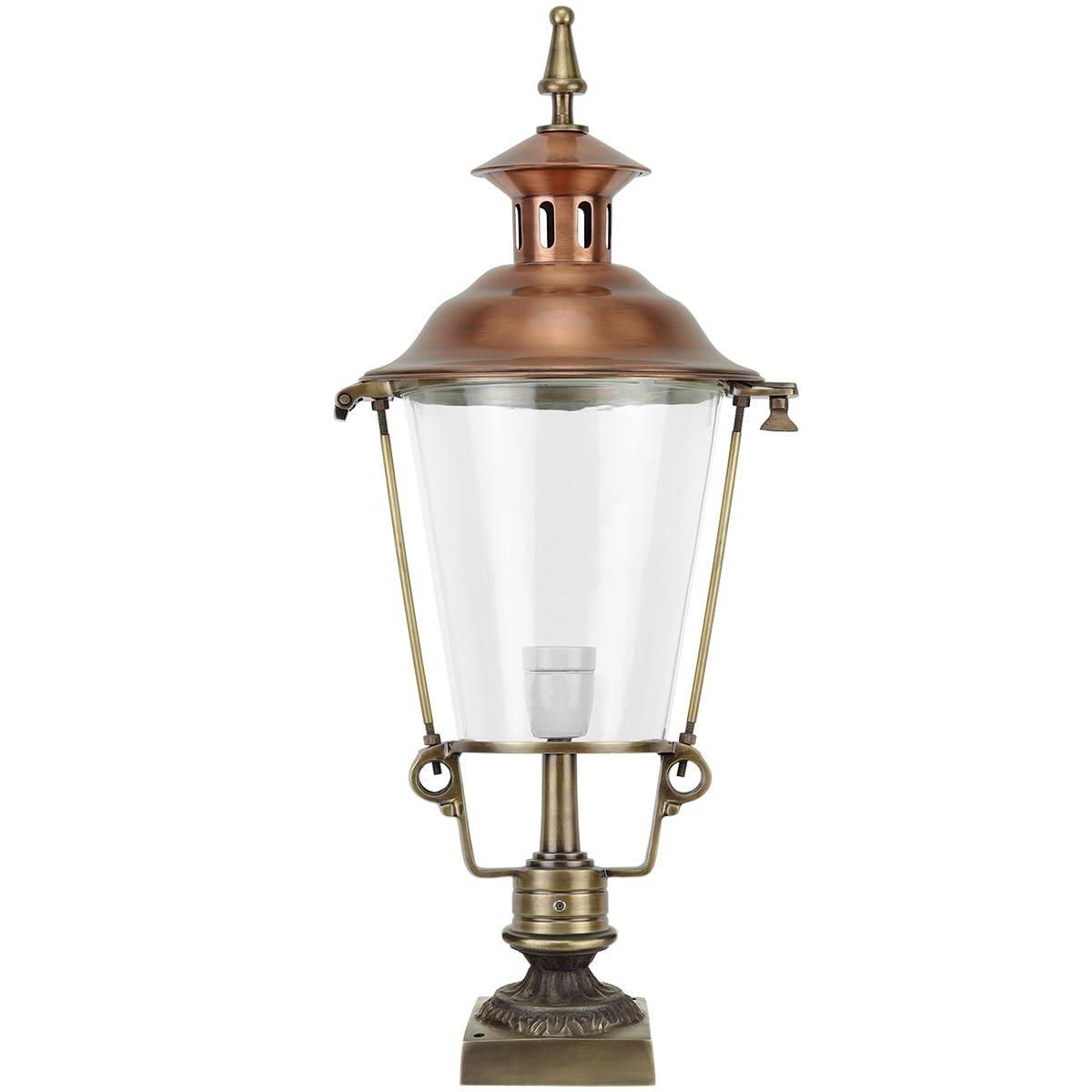 Buitenverlichting Klassiek Landelijk Tuinlamp staand Dongeradeel brons - 70 cm