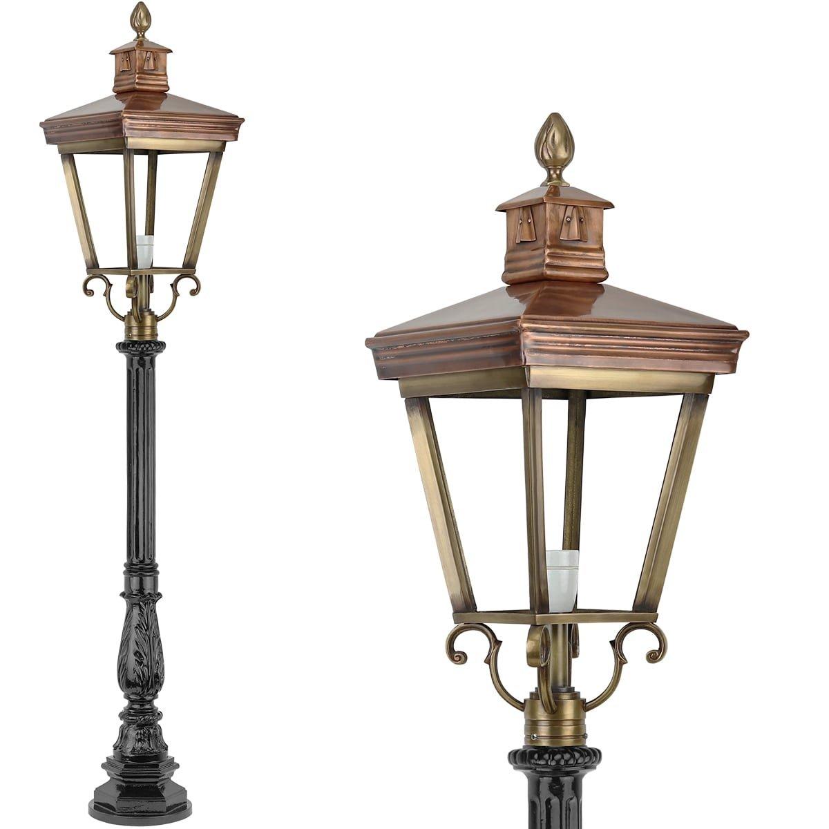 Außenbeleuchtung Klassisch Ländlich Gartenlaterne Bovensmilde Bronze - 150 cm