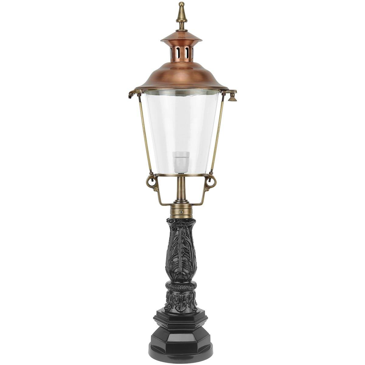 Außenbeleuchtung Klassisch Ländlich Gartenlaterne rund Eursinge bronze - 129 cm