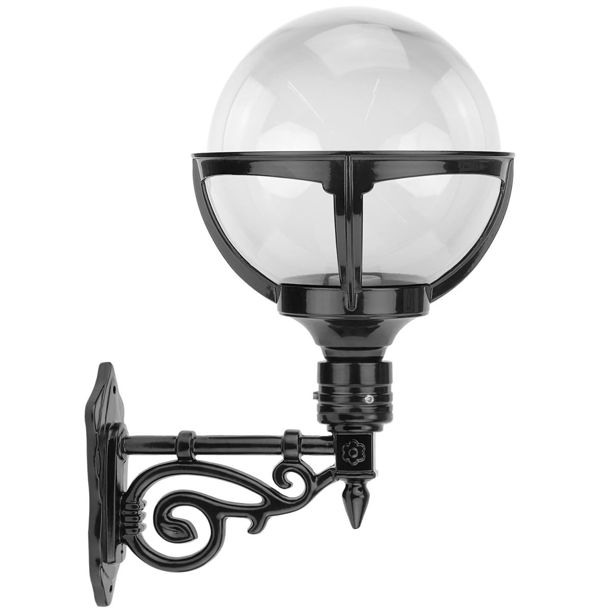Outdoor Lamps Timeless Rustic Sphere lamp clear glass Loosdrecht - 50 cm