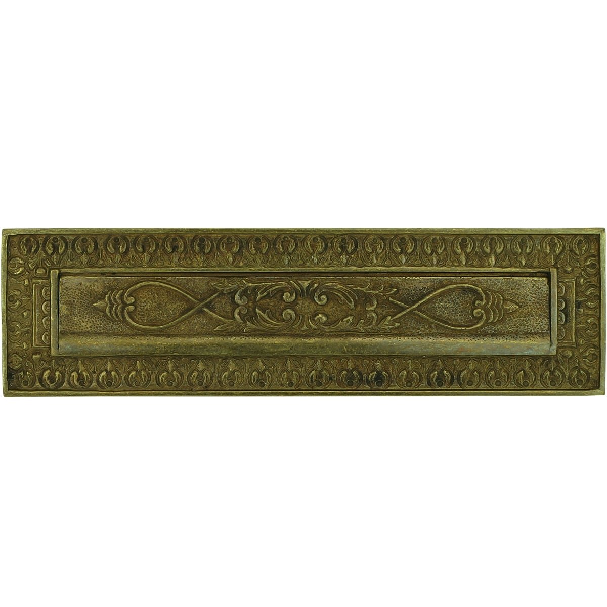 Mailboxes Classic Rural Letterbox plate brass Buckingham - 90 mm