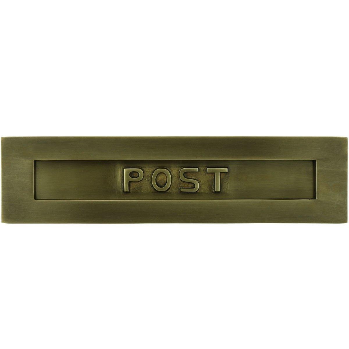 Mailboxes Classic Rural Letter plate Post bronze Darlington - 80 mm