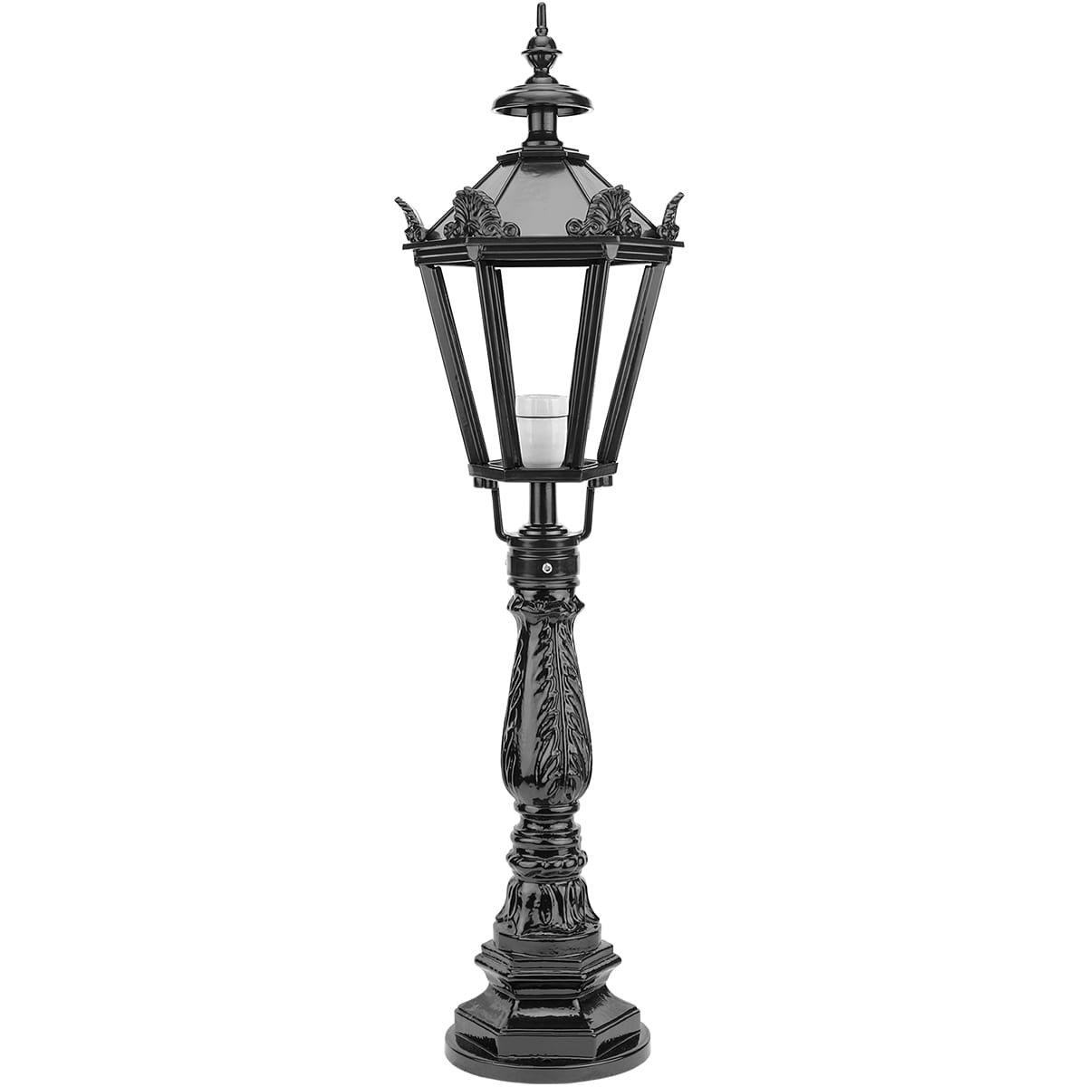 Buitenverlichting Klassiek Landelijk Buitenlamp paal Dornum met kronen - 95 cm