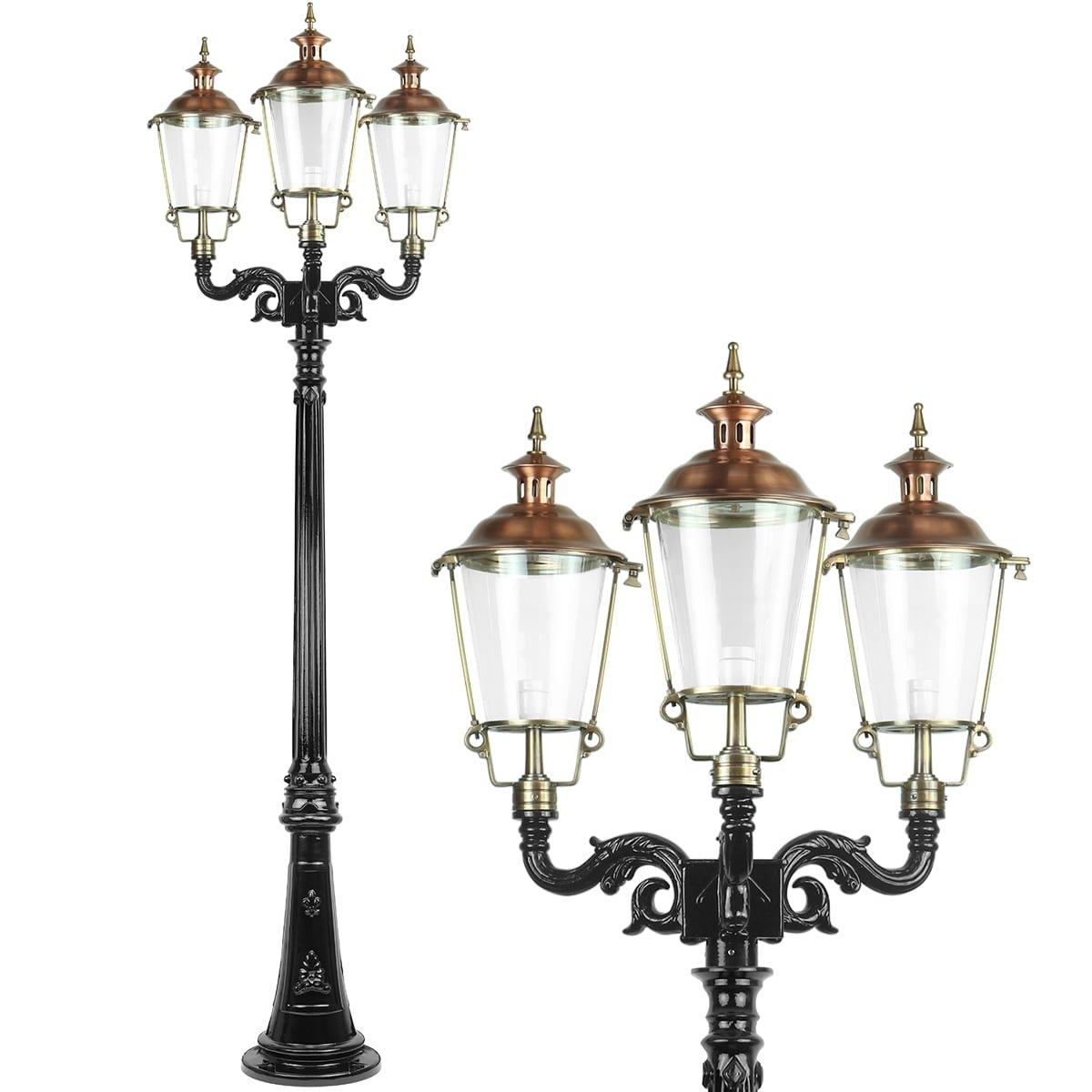 Outdoor Lighting Classic Rural Outdoor lantern Baakhoven 3 lamps - 260 cm