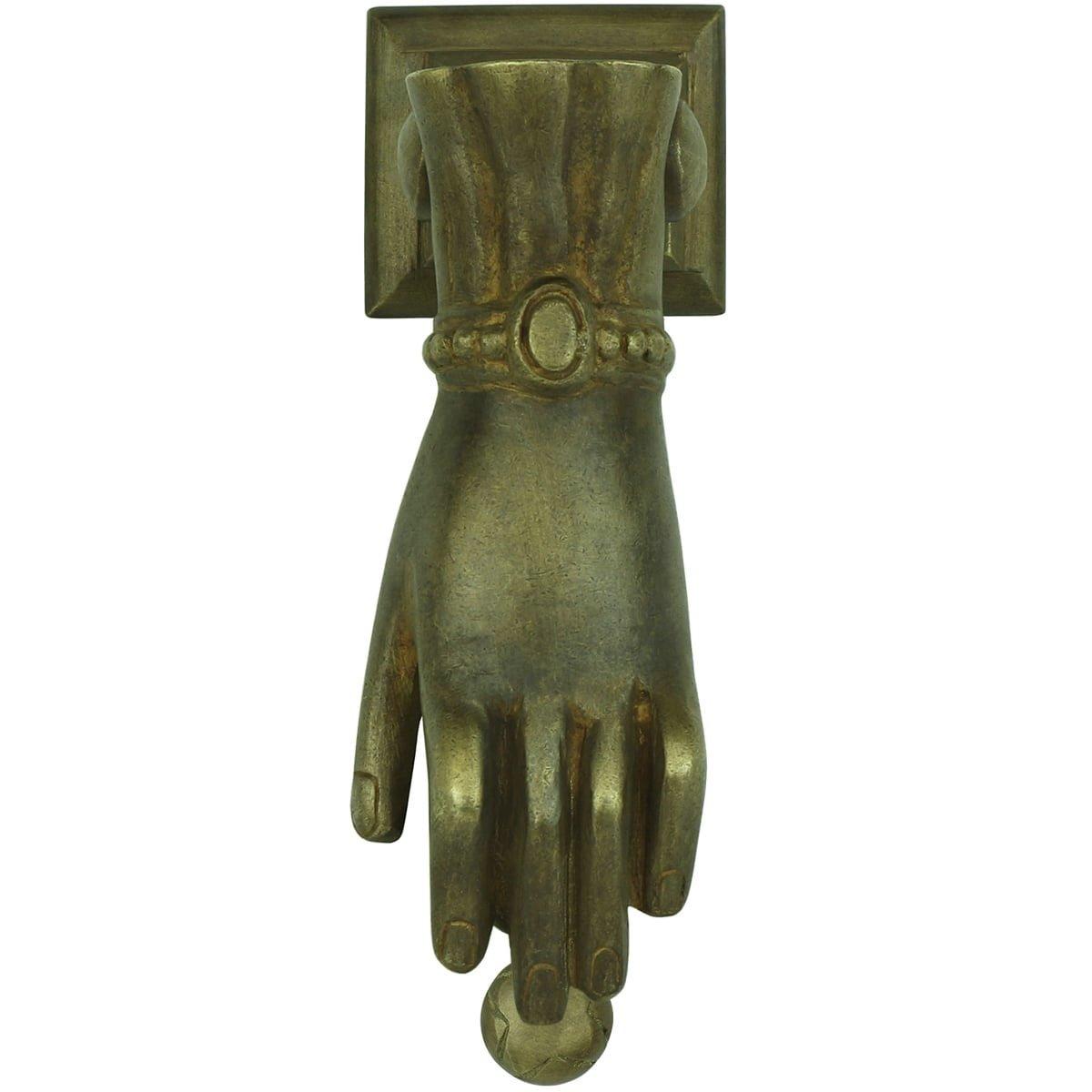 Hardware Door knockers Door knocker hand ornament Bürgel - 145 mm