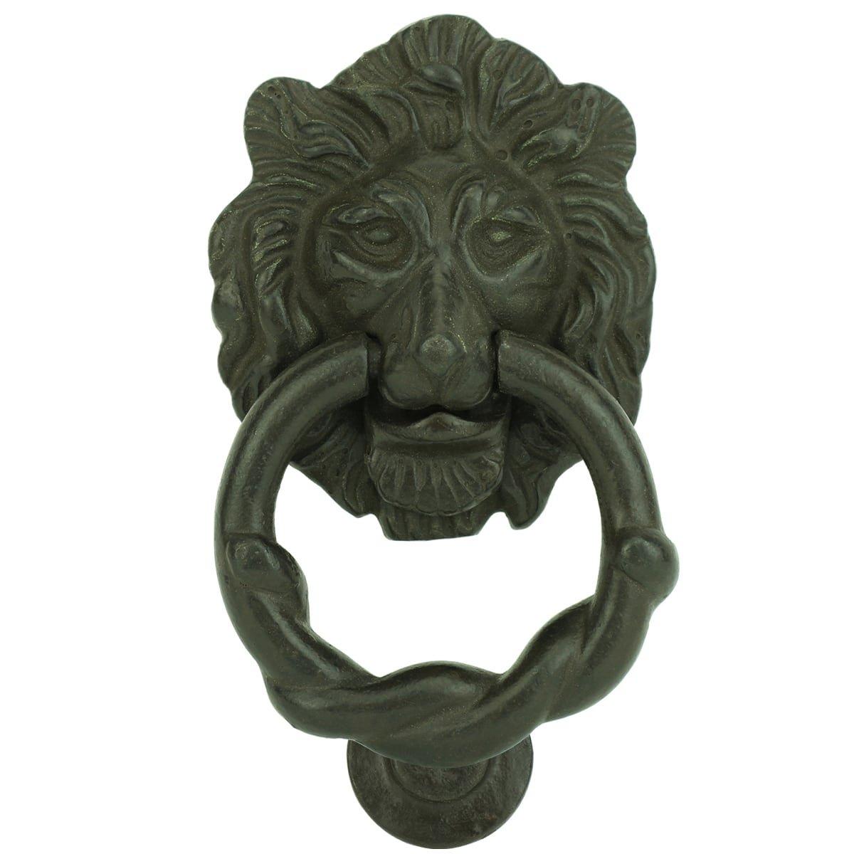 Hardware Door knockers Door knocker lion cast iron Lößnitz - 105 mm