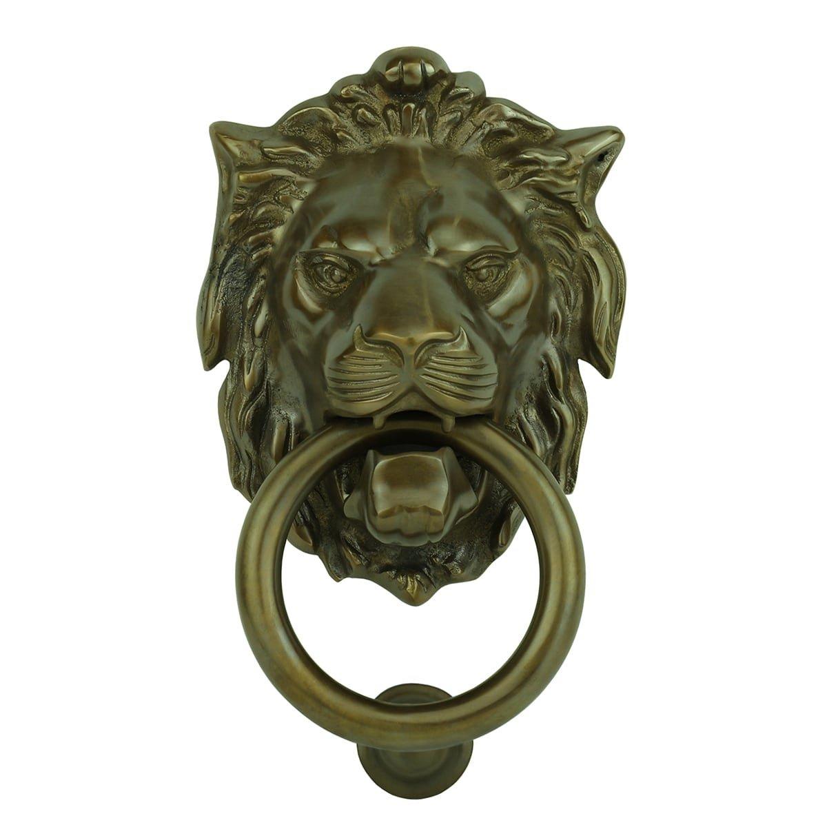 Hardware Door knockers Door knocker lion with ring Kyritz - 140 mm