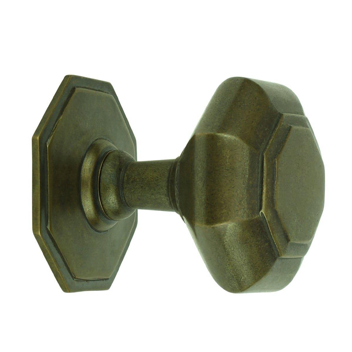 Türbeschläge Türknöpfen Türknauf 8 eckig bronze Bornheim - Ø 73 mm
