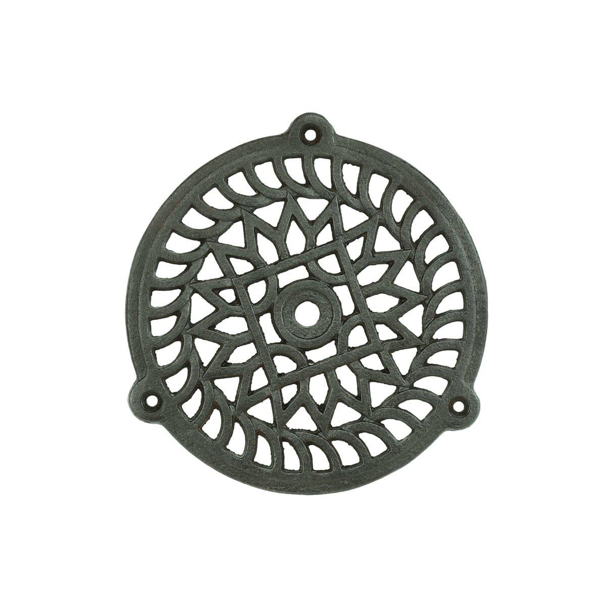 Hardware Grilles & Grates Door grille round cast iron Aßlar - Ø 110 mm