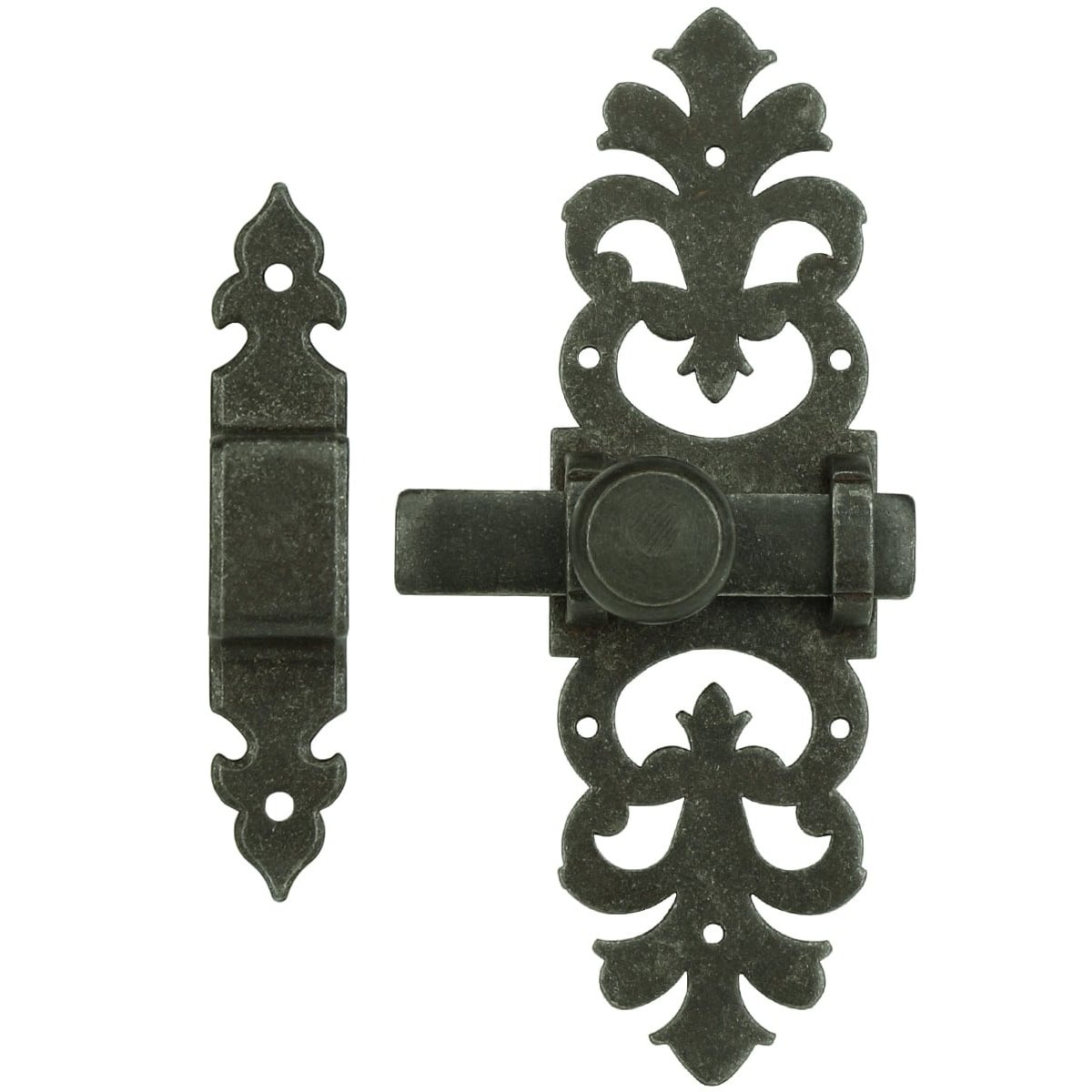 Türbeschläge Türschlösser Türschieber mit schließplatte rustikal - 165 mm