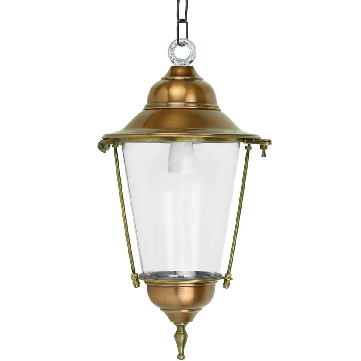 Outdoor Lighting Classic Rural Pendant lamp Sneek bronze on chain - 54 cm