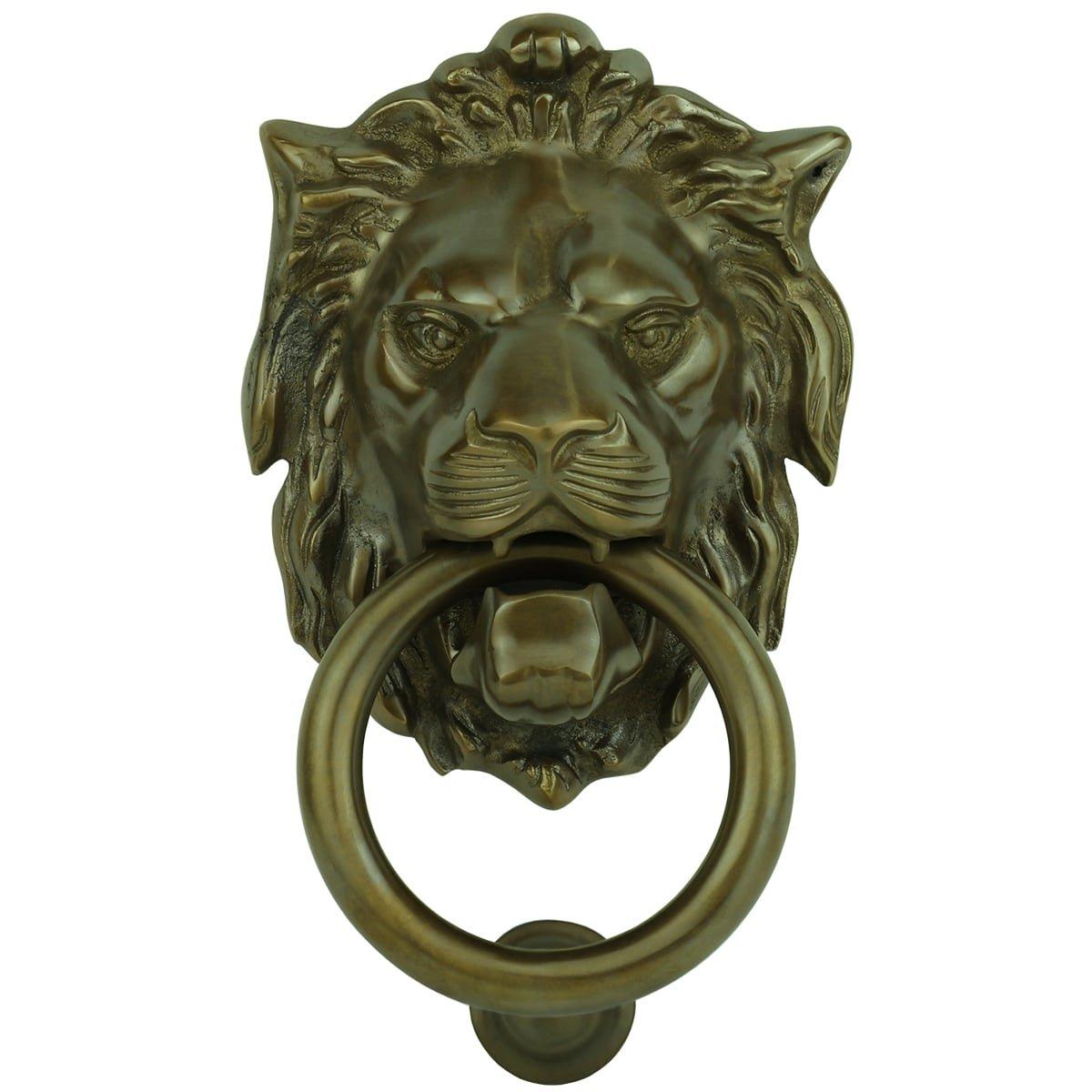 Hardware Door knockers Knocker door lion bronze Koblenz - 170 mm