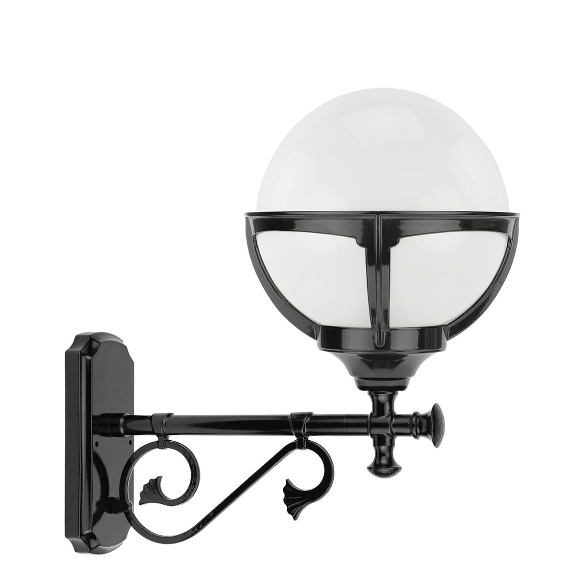 Outdoor Lamps Classic Rural Lamp home door white globe Barnflair - 48 cm