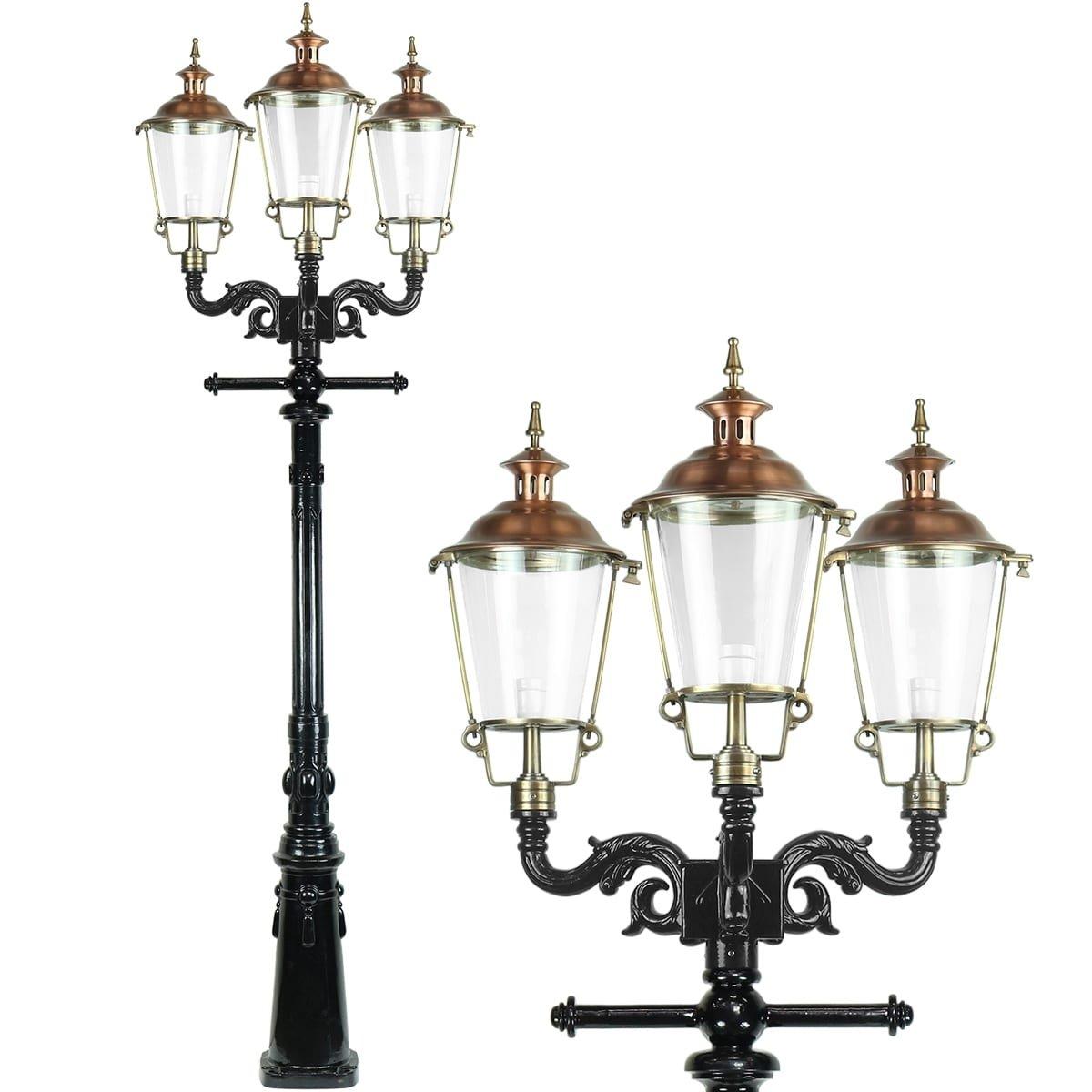 Outdoor Lighting Classic Rural Lantern lamp Bikkershorn 3-lights - 250 cm