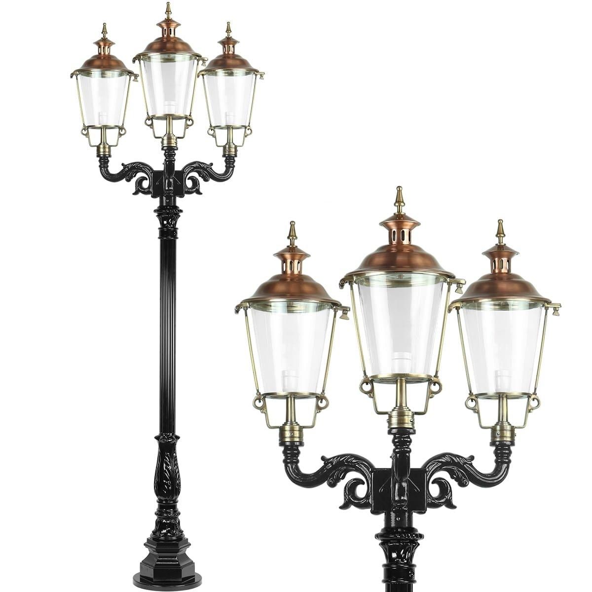Outdoor Lighting Classic Rural Lantern post Bergambacht 3 lamps - 240 cm