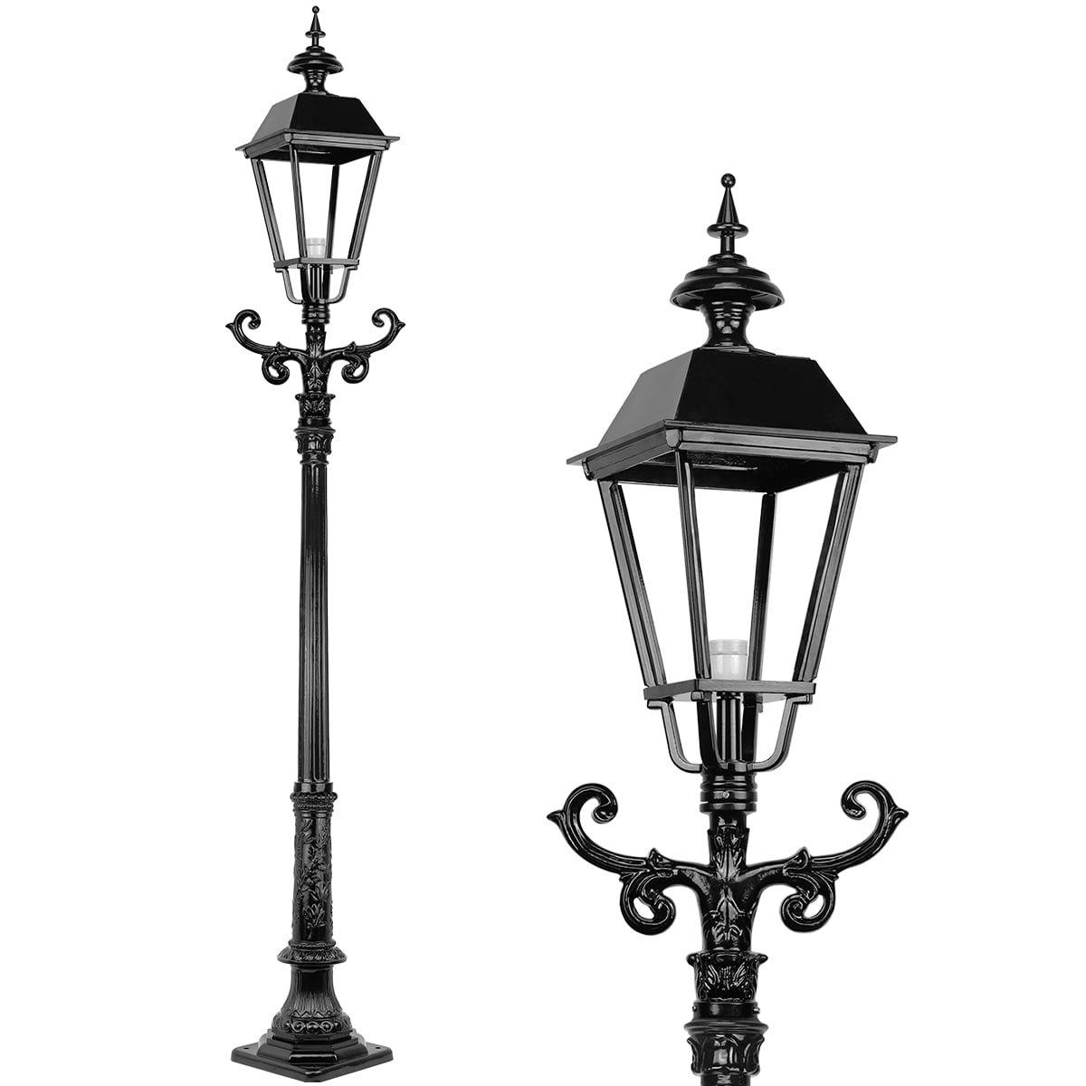 Außenbeleuchtung Klassisch Ländlich Laternenpfahl Venlo - 280 cm
