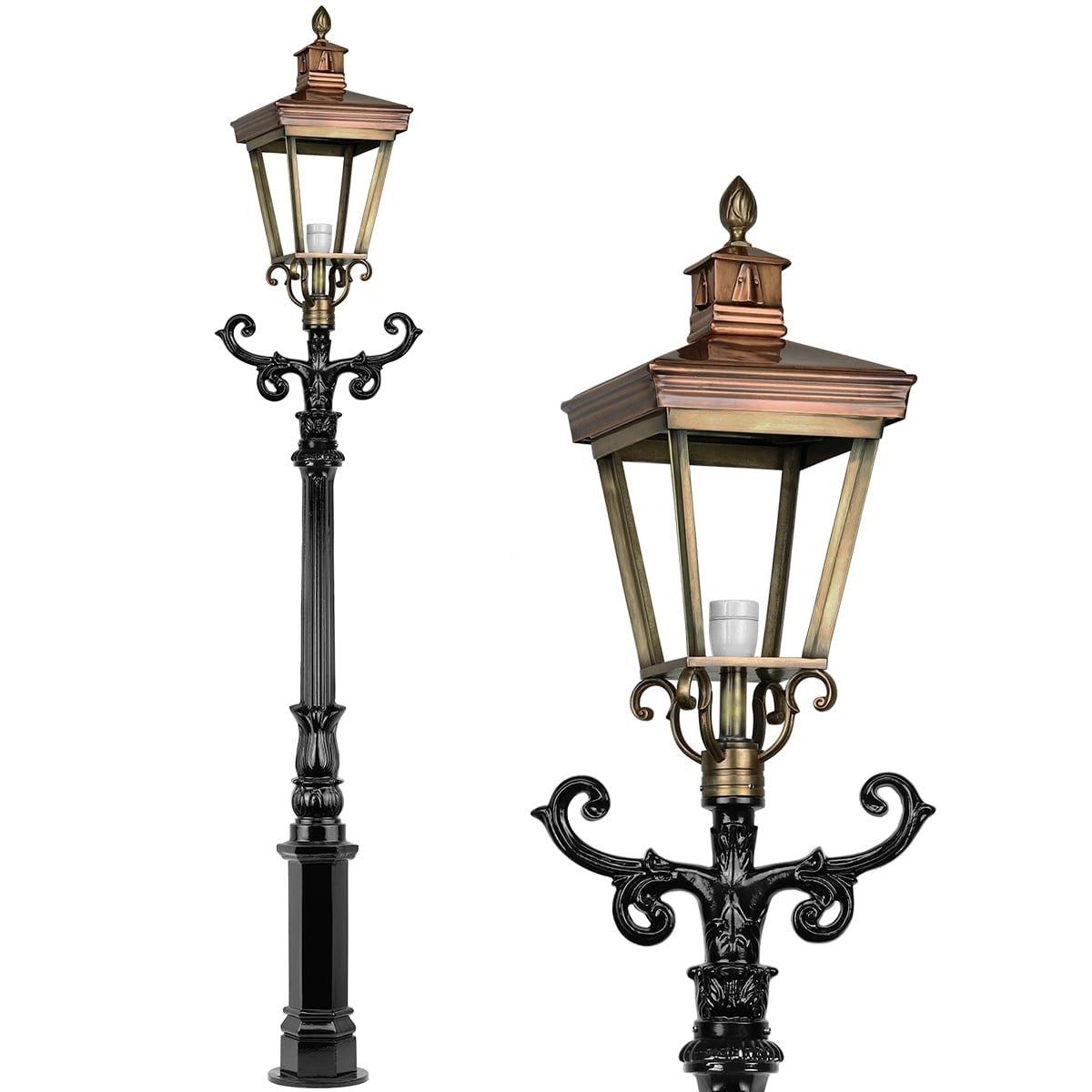 Outdoor Lighting Classic Rural Lantern post bronze Lauwersoog - 230 cm