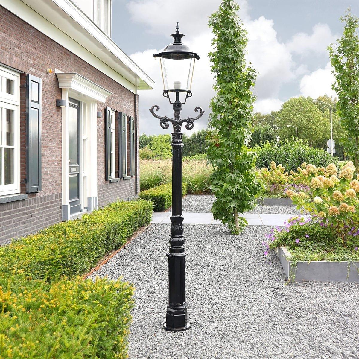 Außenbeleuchtung Klassisch Ländlich Laternenpfahl rund Zwaagdijk - 220 cm
