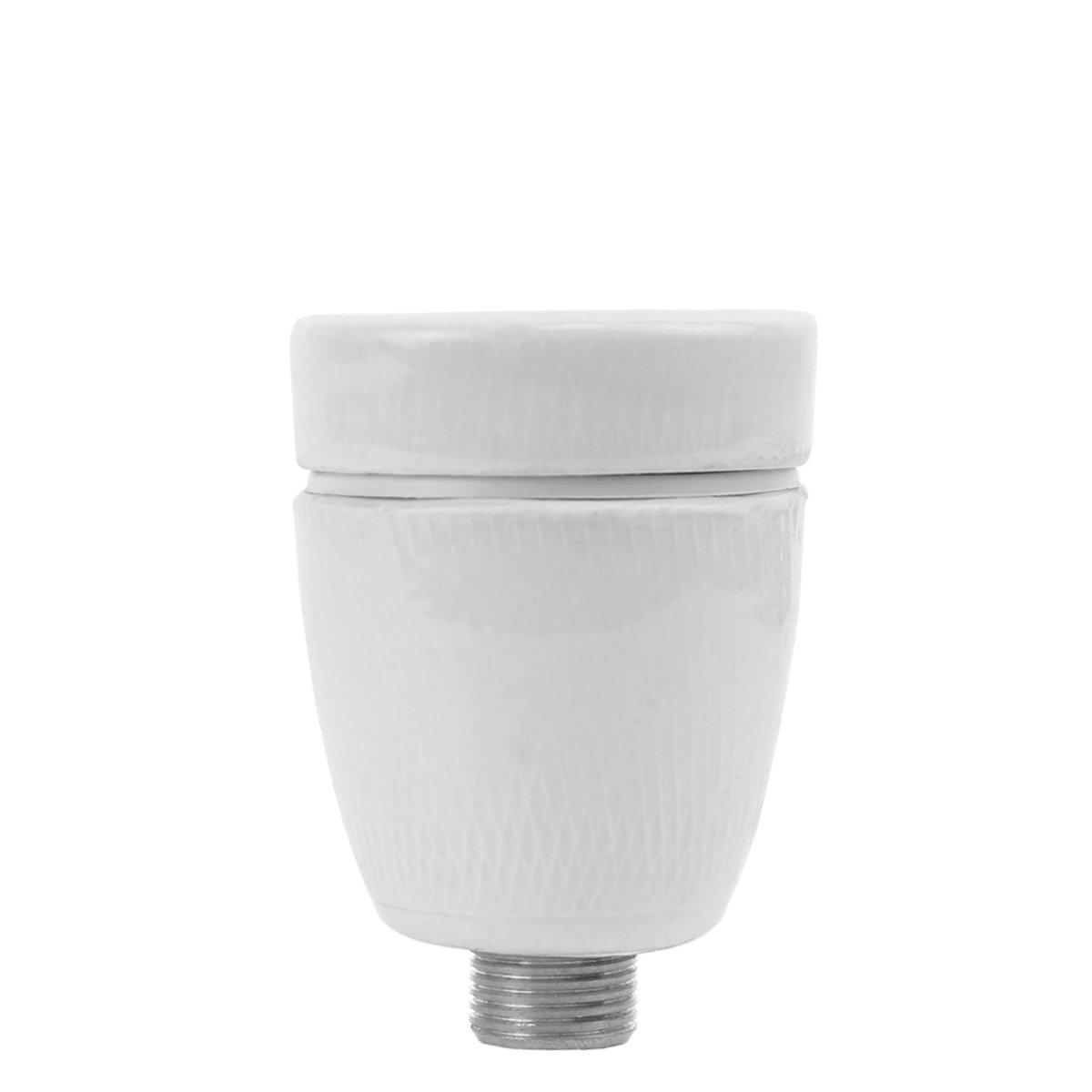 Buitenverlichting Onderdelen Losse porseleinen lamphouder E27 - Ø 10 mm